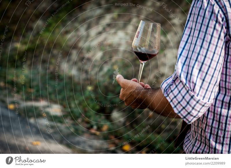One for the road Beverage Drinking Cold drink Wine Style Human being Masculine Man Adults Arm Hand Fingers 1 Autumn Shirt Hair To hold on Going Joy