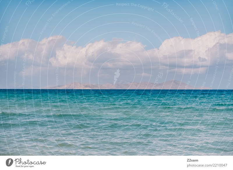 Sky Nature Blue Summer Colour Landscape Ocean Clouds Calm Mountain Warmth Environment Natural Coast Horizon Idyll