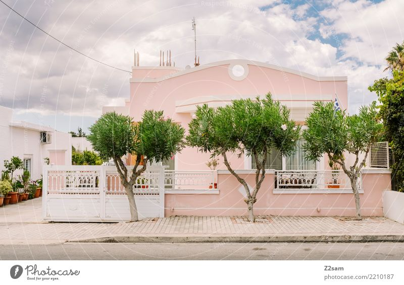 Kos City Tree Village Small Town House (Residential Structure) Detached house Dream house Building Architecture Esthetic Kitsch Green Pink Design Uniqueness SME