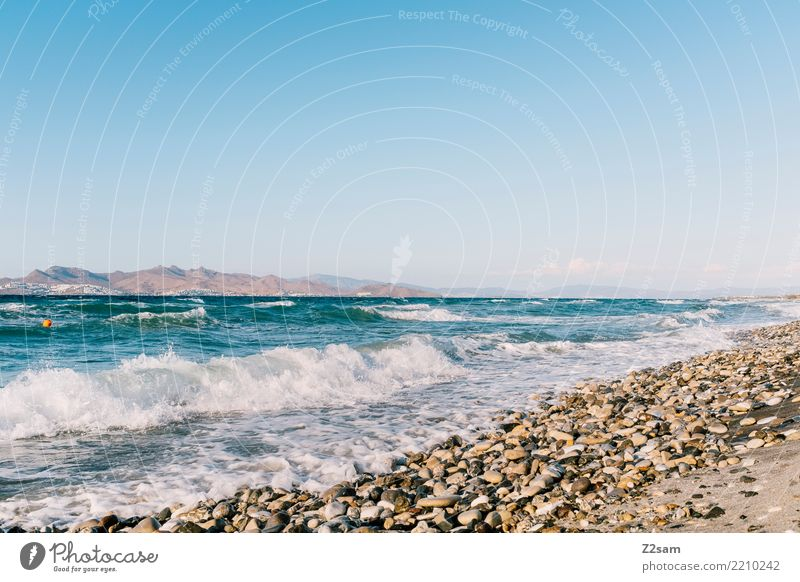 cos Vacation & Travel Summer vacation Ocean Environment Nature Landscape Sand Sky Beautiful weather Beach Natural Warmth Blue Wanderlust Loneliness Relaxation