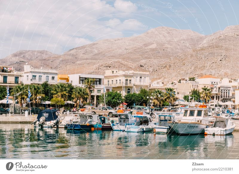 kalymnos Vacation & Travel Ocean Nature Landscape Water Sky Sun Summer Beautiful weather Mountain Village Small Town Harbour Navigation Boating trip Old Simple