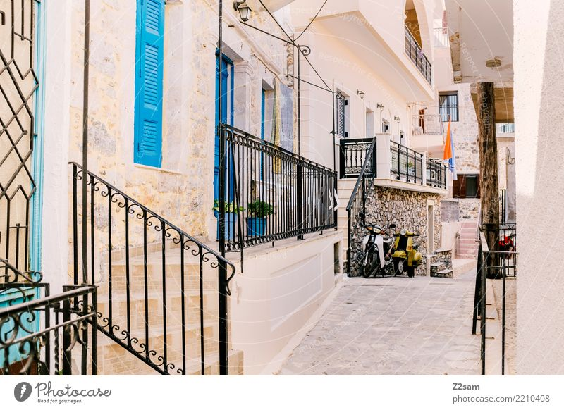 typically Greek Vacation & Travel Trip Summer vacation Village Fishing village Small Town Downtown Old town Deserted Warm-heartedness Calm Relaxation Idyll