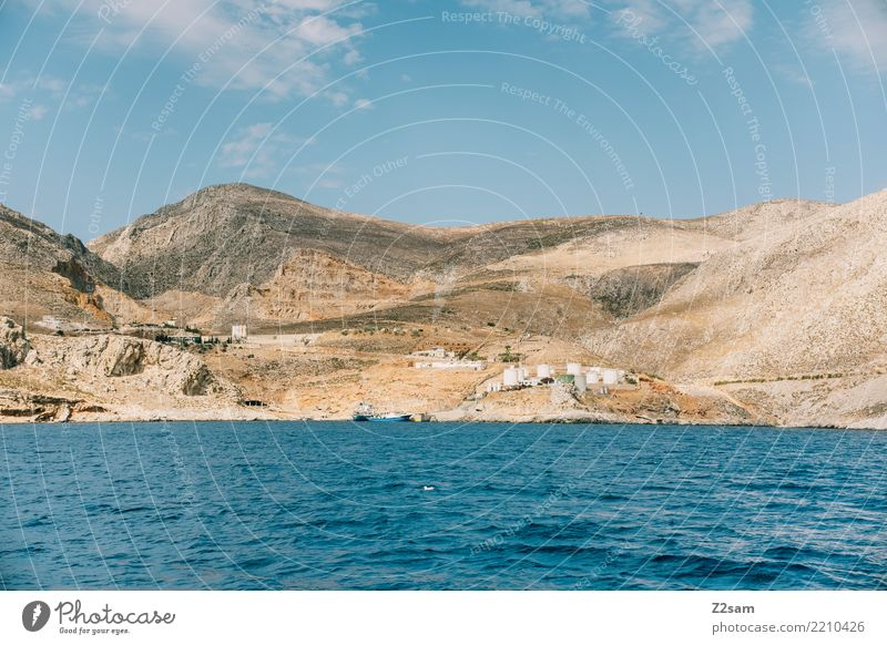 kalymnos Vacation & Travel Trip Summer Ocean Environment Nature Landscape Sky Beautiful weather Mountain Coast Industrial plant Far-off places Natural Idyll