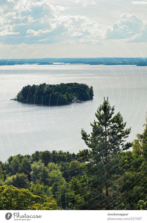 Pyhäjärvi Nature Water Lake Landscape Island Finland Tampere