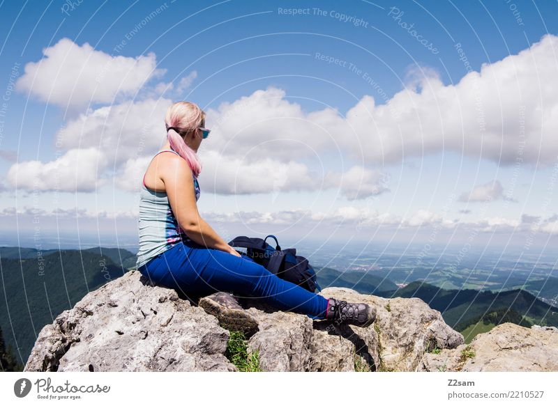 What the future holds Lifestyle Leisure and hobbies Trip Adventure Freedom Hiking Feminine Young woman Youth (Young adults) 18 - 30 years Adults Nature