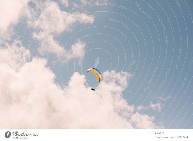 Above the clouds.... Leisure and hobbies Adventure Freedom Mountain Paragliding Human being Nature Sky Clouds Summer Beautiful weather Alps Flying Sports