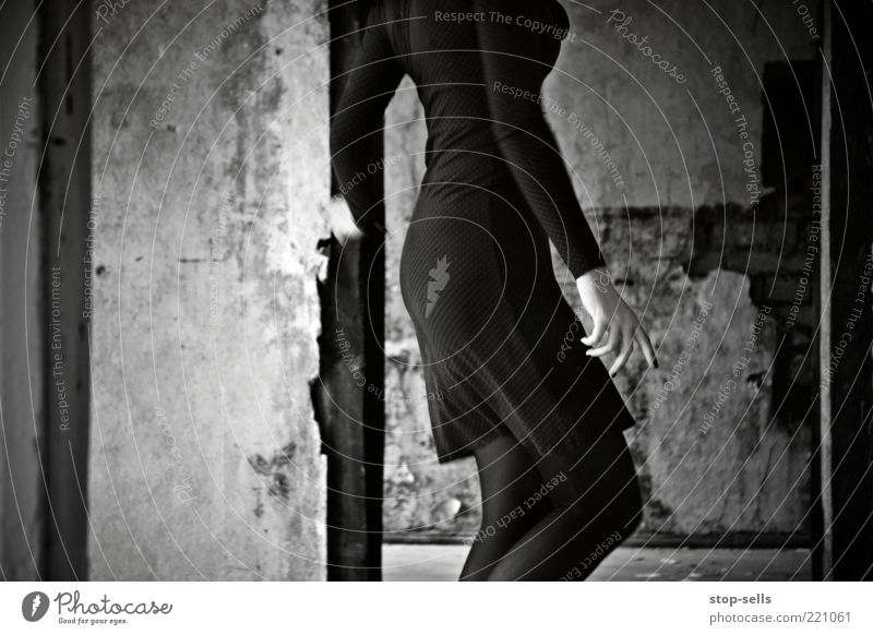 Remains of the Dark Dancer II Life Human being Feminine Young woman Youth (Young adults) Hand Fingers Bottom Legs 1 Esthetic Elegant Building for demolition