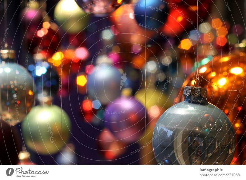 Ball colouredVI Style Sphere Illuminate Glittering Kitsch Christmas & Advent Glitter Ball Multicoloured Round Brilliant Lighting Suspended Checkmark Hang up
