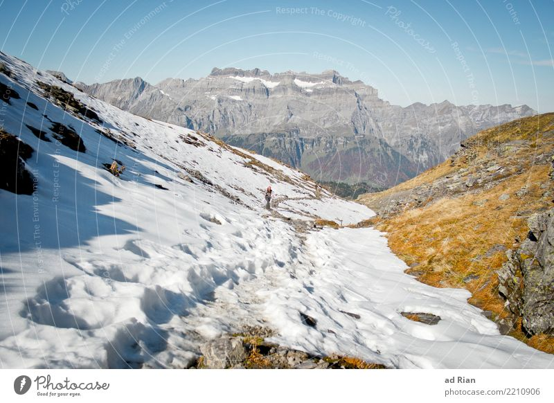 Hiking weather VI Vacation & Travel Tourism Trip Adventure Far-off places Mountain Feminine Woman Adults 1 Human being Environment Nature Landscape Plant Animal