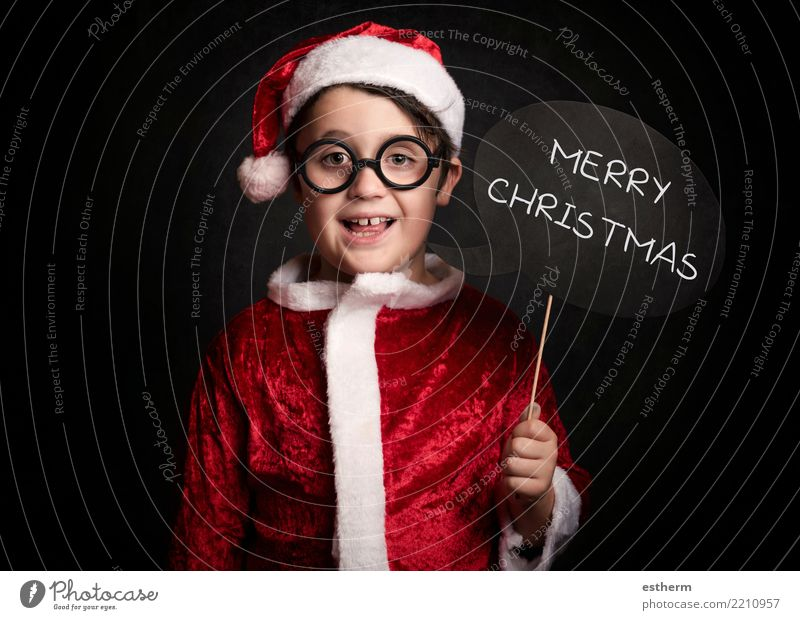 funny boy on christmas Lifestyle Winter Entertainment Party Feasts & Celebrations Christmas & Advent Human being Masculine Child Toddler Infancy 1 3 - 8 years