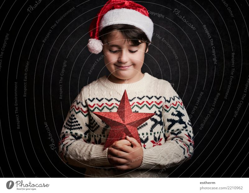 happy child on christmas Lifestyle Party Event Feasts & Celebrations Christmas & Advent New Year's Eve Human being Masculine Child Toddler Infancy 1 3 - 8 years