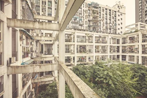 Old residential buildings. Living or residing Flat (apartment) House (Residential Structure) Town Downtown Overpopulated Building Architecture Wall (barrier)