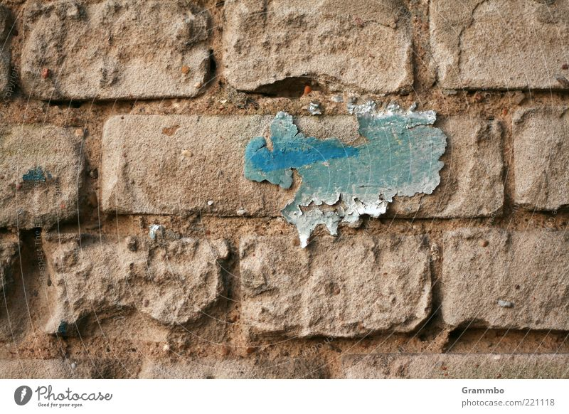Blue Wall (building) Gray Stone Dye Broken Change Derelict Map Remainder Insulation Flake off Weathered Light blue Brick wall Brick facade