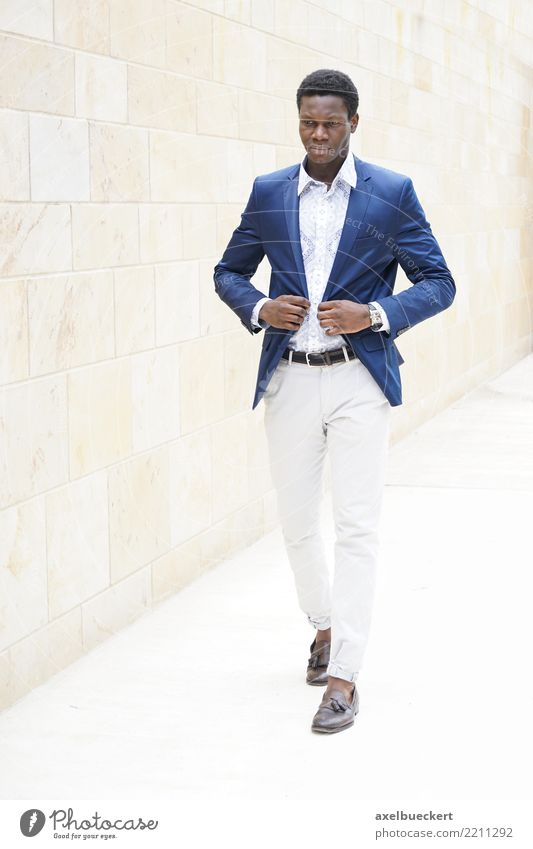 fashionable young african man Lifestyle Luxury Elegant Style Business Human being Masculine Young man Youth (Young adults) Man Adults 1 18 - 30 years Fashion