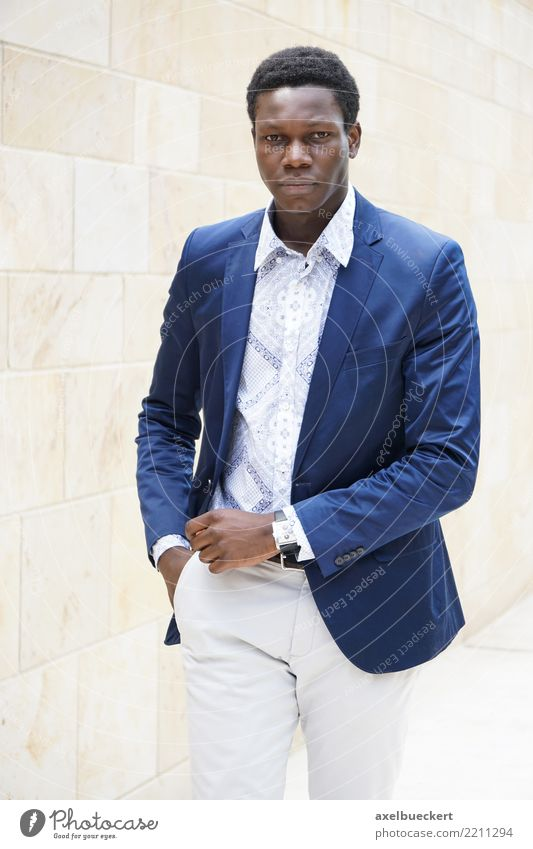 fashionable young man of african descent Lifestyle Luxury Elegant Style Business Human being Masculine Young man Youth (Young adults) Man Adults 1 18 - 30 years