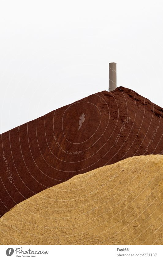 sandcastle Industry Sand Cloudless sky Summer Hill Factory Places Chimney Natural Many Brown Yellow Gray Authentic Interest Uniqueness Discover Nature Quality