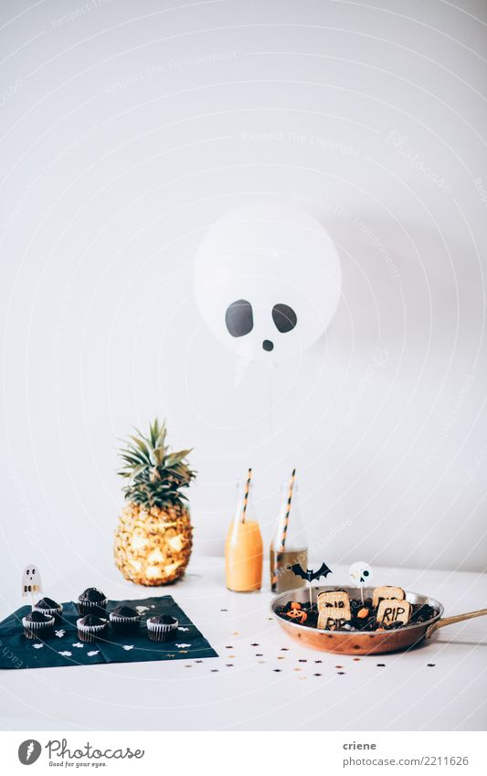 Halloween Party drinks and snacks Buffet Brunch Beverage Alcoholic drinks Joy Table Thanksgiving Hallowe'en Autumn Balloon White Creativity holiday party