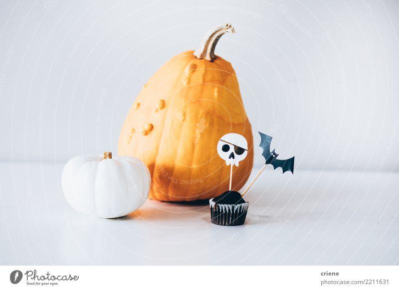 Selection of halloween autumn decoration Eating Decoration Hallowe'en Autumn Accessory Creepy White Pumpkin Ghosts & Spectres  food Muffin Cupcake chocolate bat