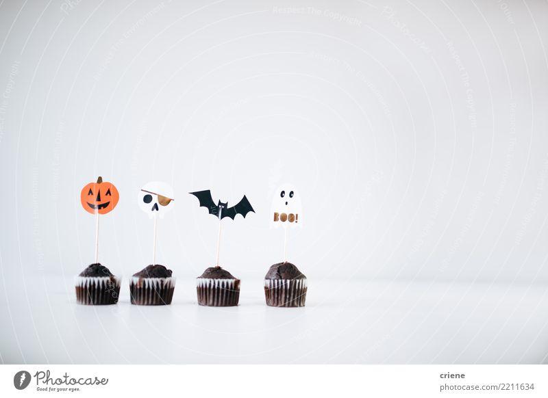 Halloween Cupcakes Food Cake Dessert Candy Chocolate Eating Winter Decoration Hallowe'en Autumn Accessory Creepy White Events bat mimimalism Pumpkin seasonal