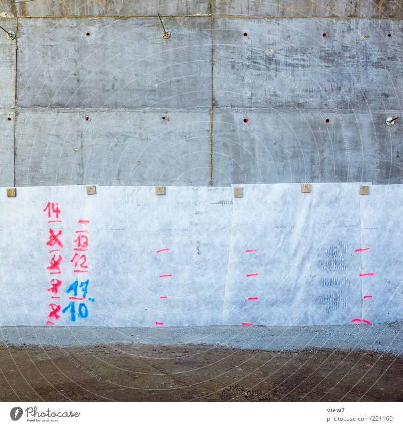 numerals Construction site Stone Concrete Sign Digits and numbers Signs and labeling Old Authentic Dark Simple Uniqueness Pink Memory Clue Water level Measure