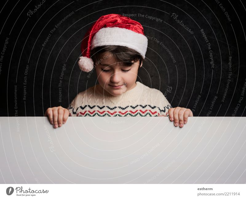 happy child at christmas Child Human being Vacation & Travel Christmas & Advent Winter Lifestyle Funny Emotions Movement Feasts & Celebrations Party Think