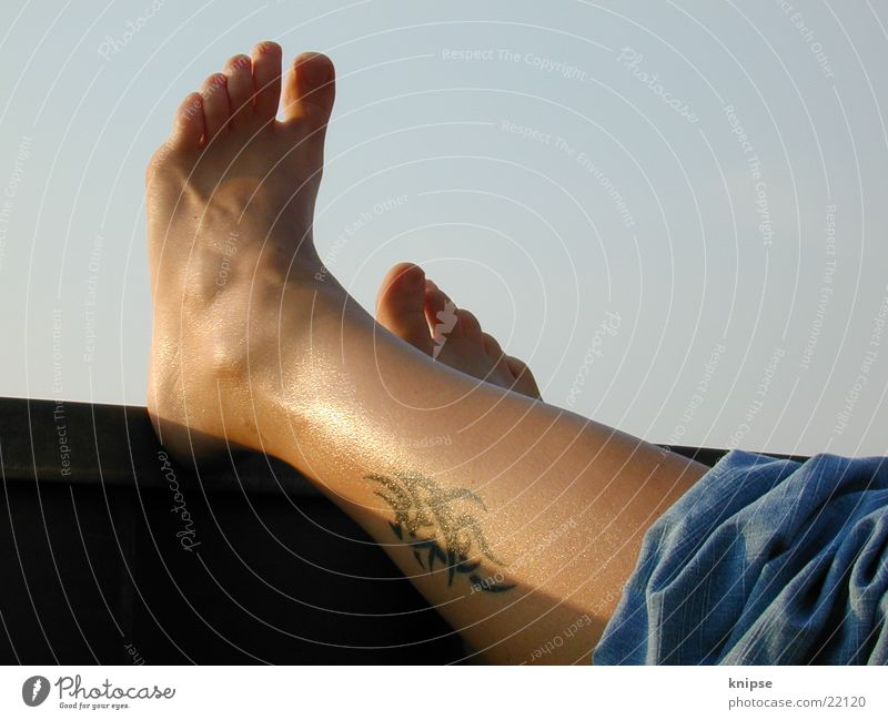 relaxing Relaxation Human being Foot. feet tattoo Wade. relax