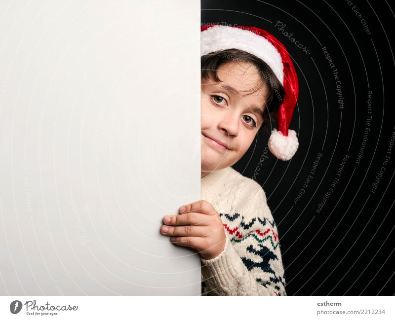 happy child at christmas Child Human being Vacation & Travel Christmas & Advent Winter Lifestyle Emotions Laughter Feasts & Celebrations Party Masculine Infancy