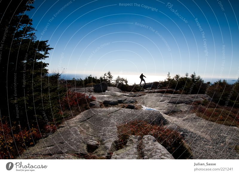 Human being Nature Water Sky Plant Far-off places Autumn Mountain Stone Landscape Air Hiking Environment Rock Earth USA