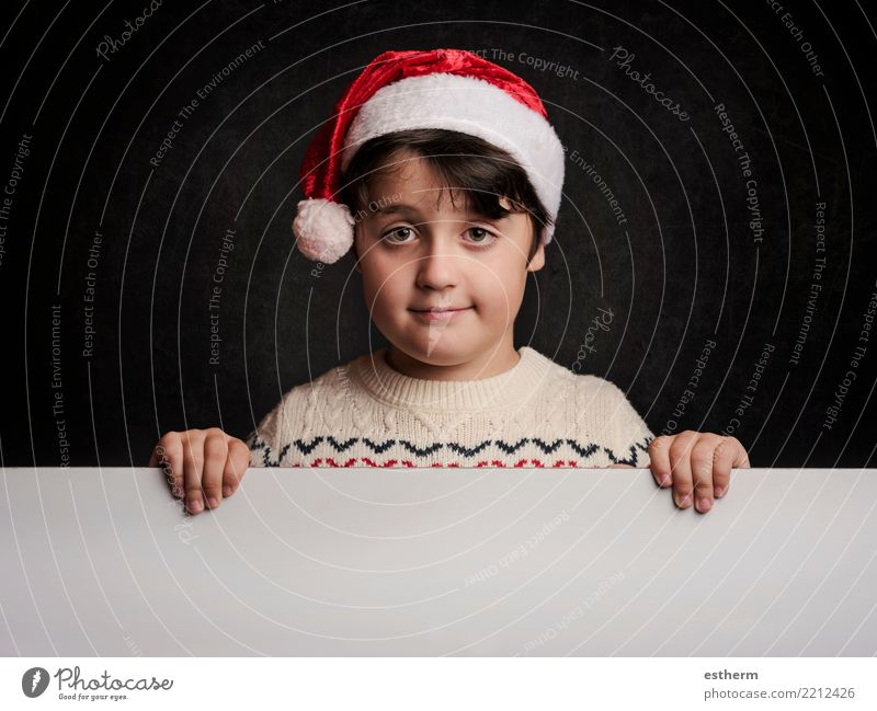 happy child at christmas Lifestyle Vacation & Travel Winter Feasts & Celebrations Christmas & Advent New Year's Eve Human being Masculine Child Toddler Infancy