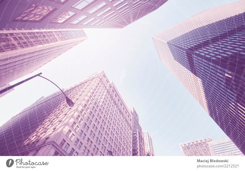 Skyscrapers Workplace Office Town Downtown High-rise Bank building Building Architecture Wall (barrier) Wall (building) Elegant Success Modern