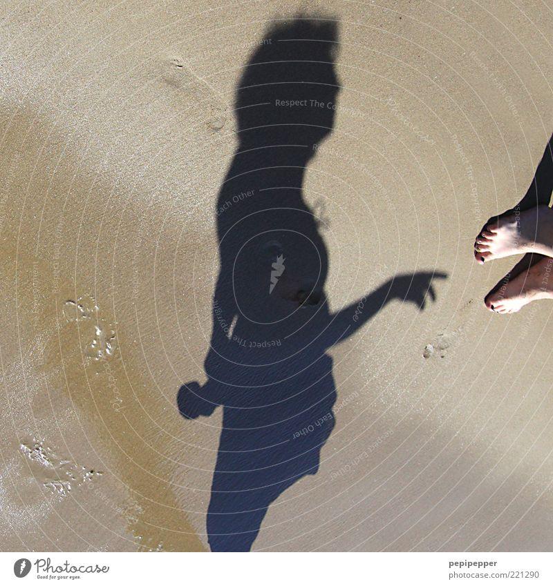 Woman Human being Vacation & Travel Ocean Summer Beach Adults Feminine Sand Wet Island Tourism Stand Damp Footprint Summer vacation