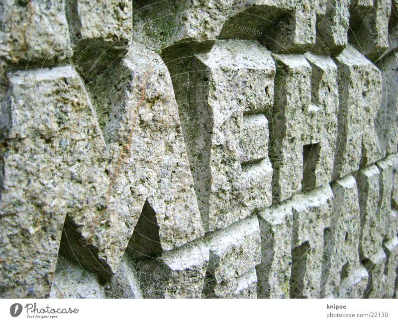 Stone Art Rock Characters Letters (alphabet) Word Souvenir