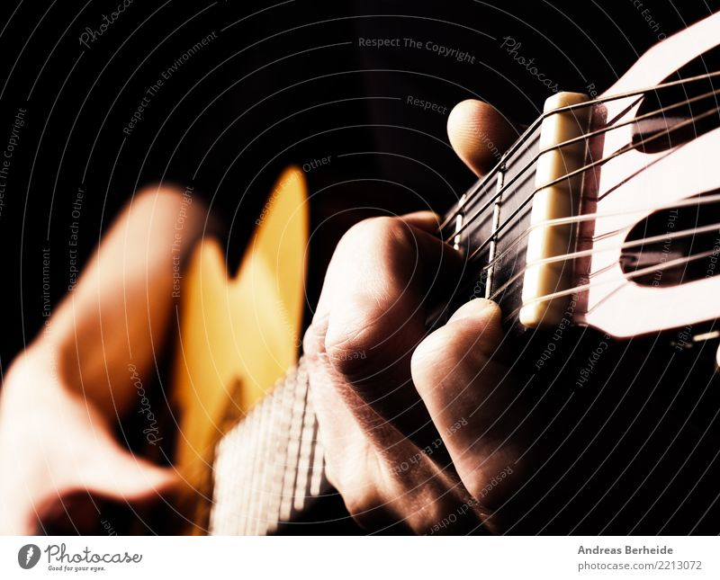 make music Style Music Feasts & Celebrations Masculine Man Adults Hand Fingers Artist Guitar Study Love Emotions Flamenco player Blues Jazz classical acoustic