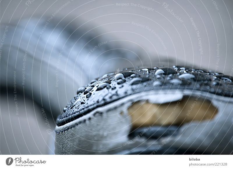 rainy weather Water Drops of water Gray Black Saddle Broken Old Wet Damp Abstract Shallow depth of field Second-hand Bicycle saddle Surface tension