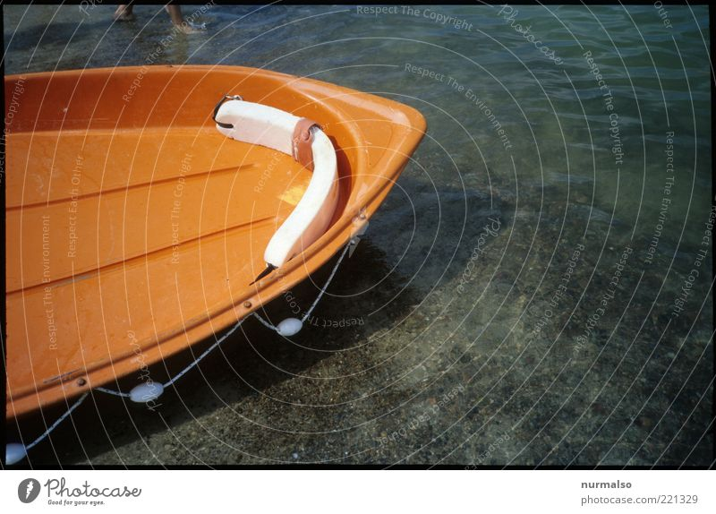 lifeboat Lifestyle Leisure and hobbies Summer Summer vacation Beach Ocean Waves Environment Water Coast Baltic Sea Navigation Dinghy Rowboat Rescue Bow Point