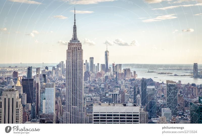 Empire State Building and Manhattan, New York City Luxury Vacation & Travel Tourism Trip Adventure Far-off places Freedom Sightseeing City trip Night life