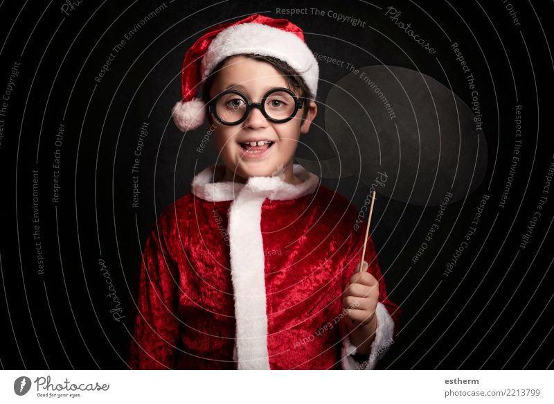 funny boy on christmas Child Human being Vacation & Travel Christmas & Advent Winter Lifestyle Funny Emotions Laughter Feasts & Celebrations Party Masculine