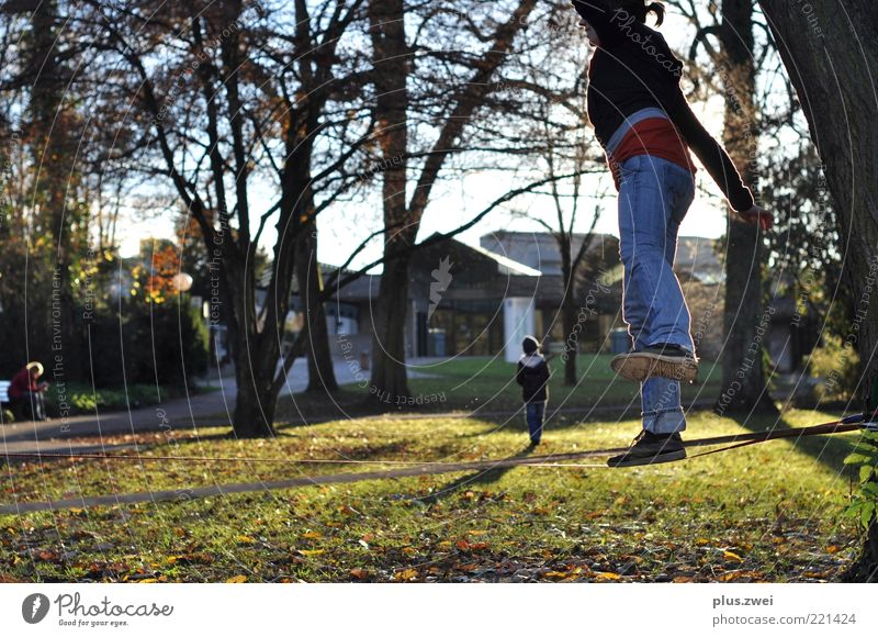 Human being Nature Youth (Young adults) Tree Joy Meadow Garden Park Contentment Going Leisure and hobbies Walking Free Fresh Happiness Cool (slang)