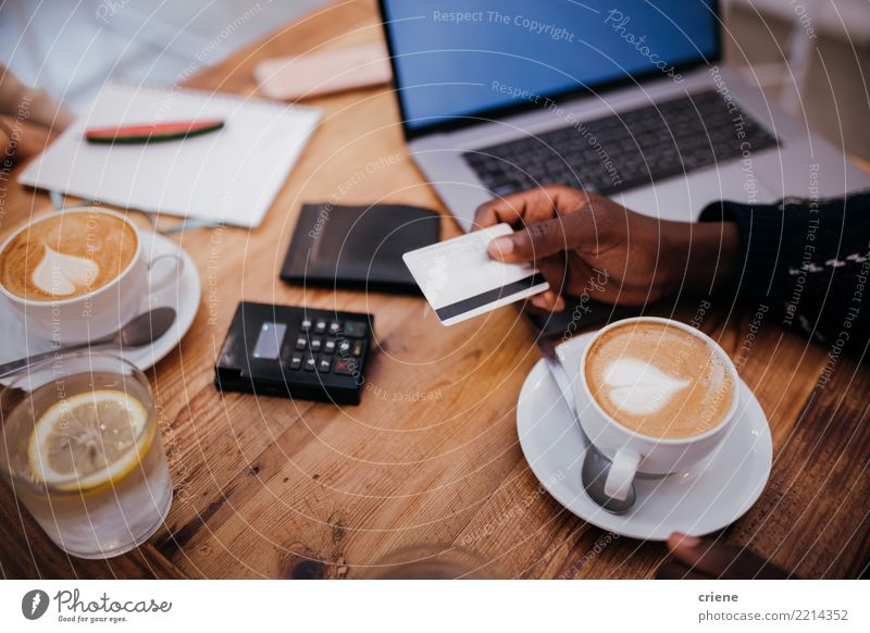 Man using credit card for payment in restaurant Beverage Drinking Coffee Espresso Lifestyle Money Success Work and employment Financial Industry