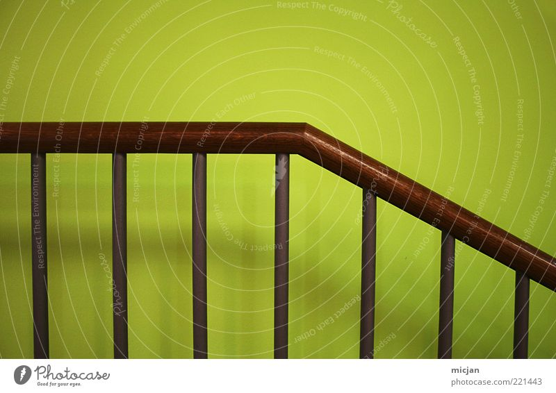 Green Colour Wall (building) Wood Dye Wall (barrier) Brown Design Safety Modern Arrangement New Simple Handrail Geometry Downward
