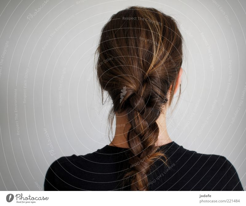 Human being Black Adults Feminine Back 18 - 30 years Brunette Shoulder Young woman Braids Looking away Nape Plaited Hair and hairstyles Woman