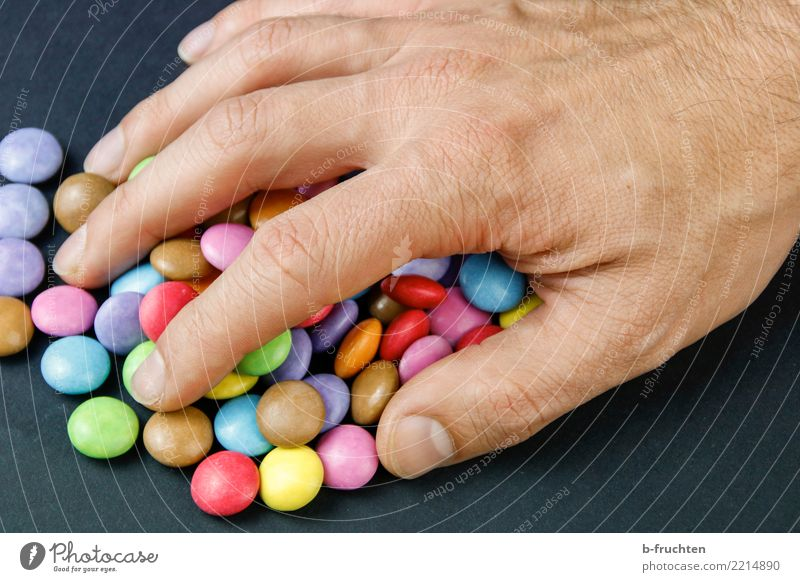 Man Hand Adults Healthy Sweet Fingers Candy Collection Medication Catch Diet Addiction Desire Take Avaricious 30 - 45 years