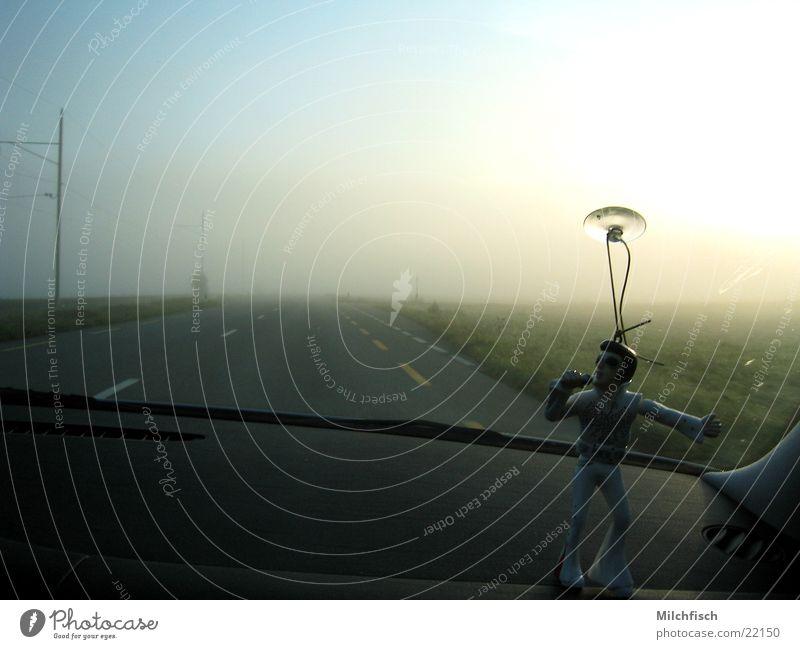 shakin' Elvis Driving Fog Moody Transport shake Car Street Morning