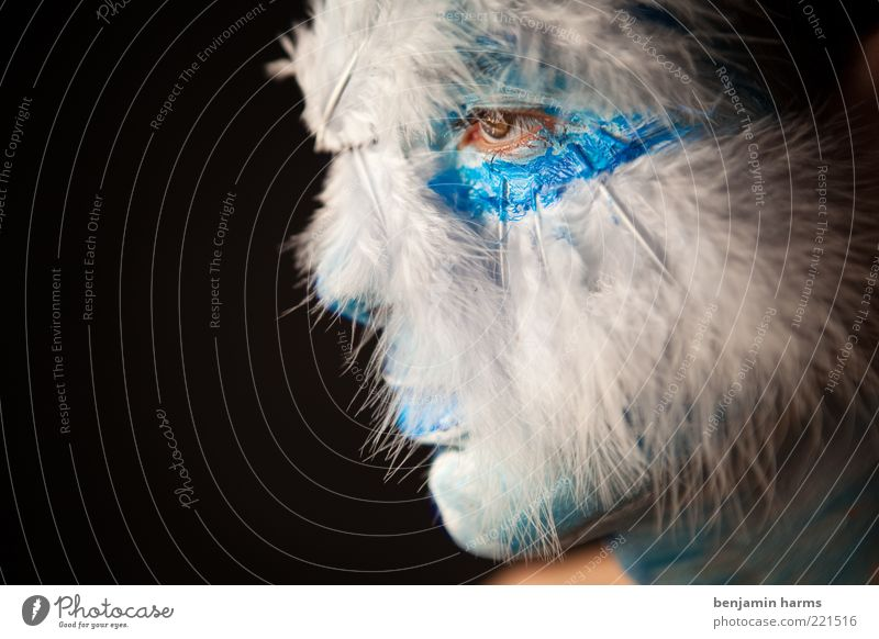 Human being Adults Colour Head Art Elegant Masculine Hair Exceptional Uniqueness Mask Pelt 18 - 30 years Fantastic Portrait photograph Idea