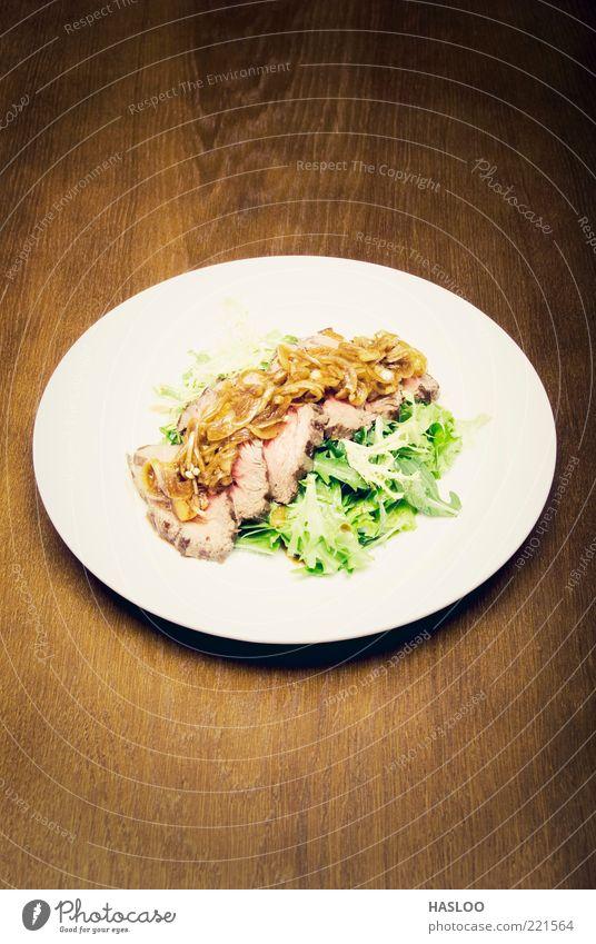 Meat dish Food Vegetable Dinner Plate Luxury Restaurant Hot Delicious Green Red White Appetite Meal Sense of taste Tasty appetizing Salad delight Gourmet