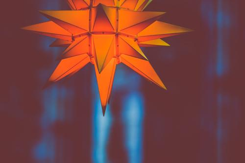 shining Advent star V Abstract Yellow Black Light Christmas & Advent Bright Decoration Red Isolated (Position) White Colour Orange Feasts & Celebrations Hope