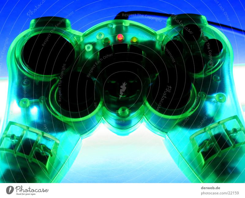 Green Computer games Lighting Transparent Entertainment PlayStation Bilious green Joystick