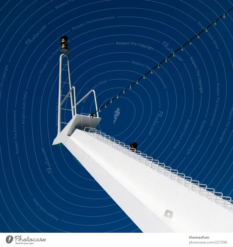 White Ocean Blue Vacation & Travel Above Watercraft Metal Tall Perspective Modern Arrangement Communicate Navigation Electric bulb Mast Ferry
