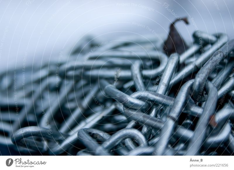 Blue White Metal Power Glittering Simple Metalware Firm Chain Silver Heap Stagnating Fastening Blur Chain link