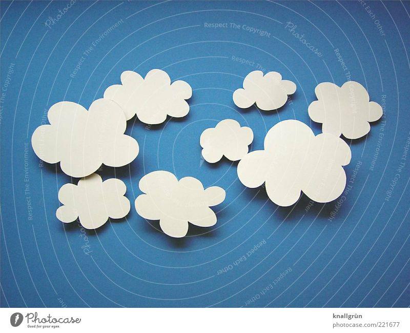 Sky White Blue Clouds Air Environment Paper False Blue sky Clouds in the sky Altocumulus floccus Home-made
